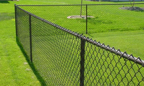 color coated fence